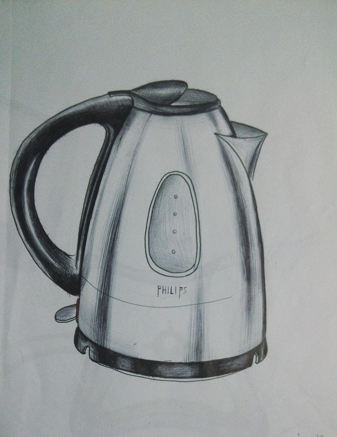 电热水壶手绘图片 图片合集