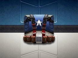 拟物图标练习美国队长