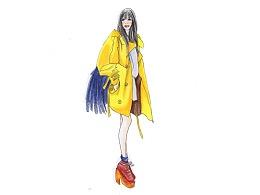 【驴大萌彩铅教程288】街拍黄色风衣 手绘时装画