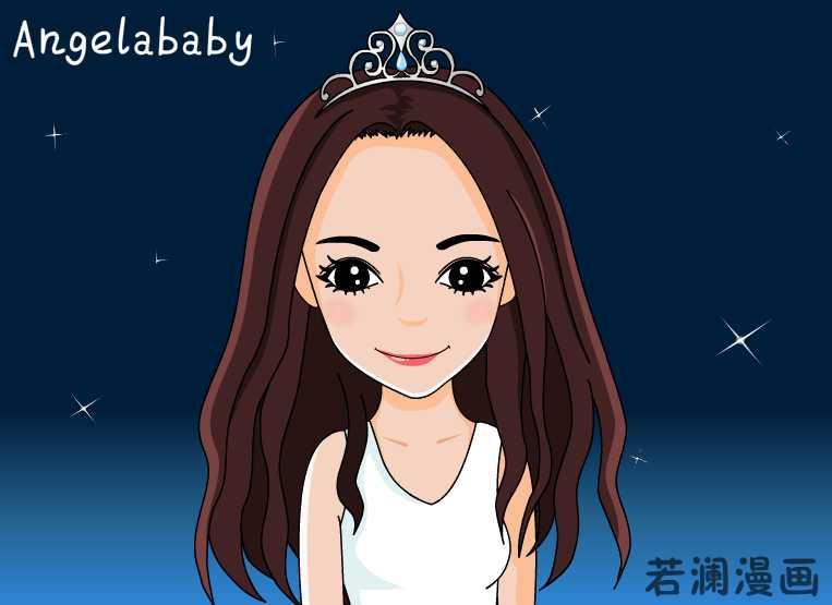杨颖漫画图片手绘图