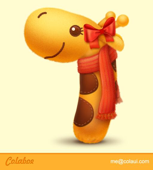 查看《长颈鹿毛绒玩具》原图,原图尺寸:512x568