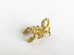 黄铜蝎子吊坠挂饰,藏传佛教灵兽