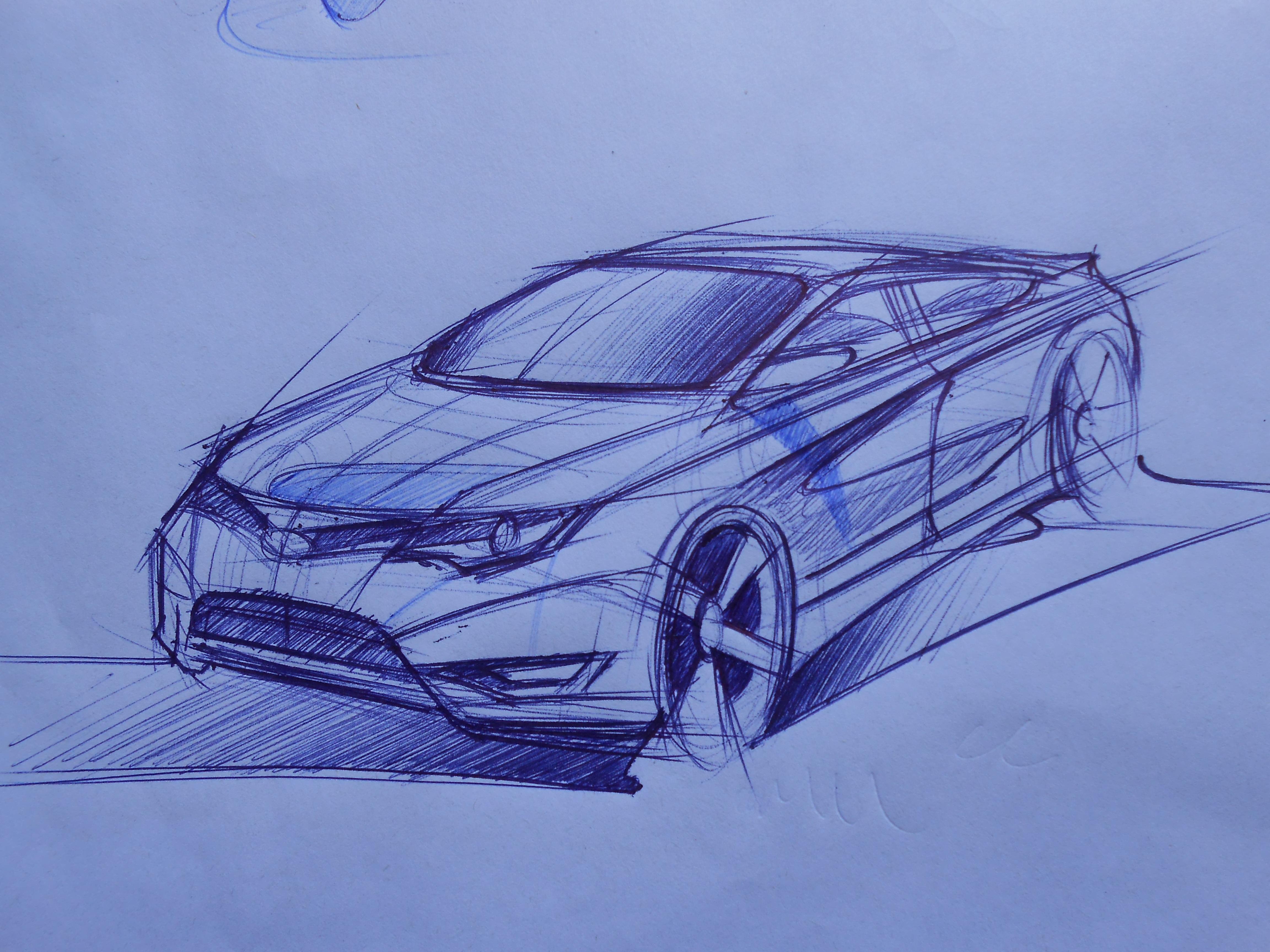 汽车设计手绘