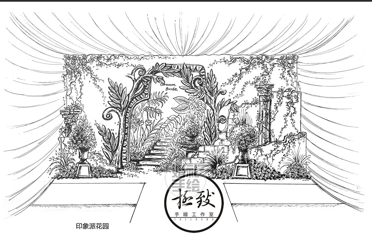 成都婚礼手绘师 — 叶成