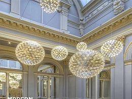大型商场中庭景观LED圆球美陈工厂铭星灯饰专业定制