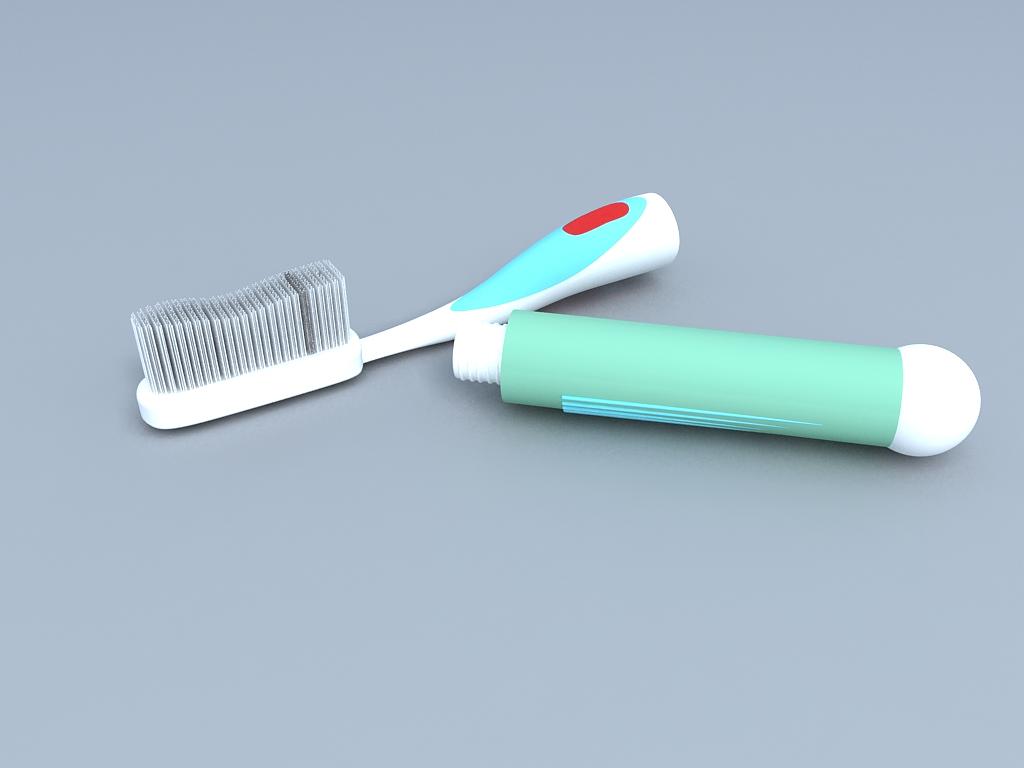 工业设计手绘牙刷
