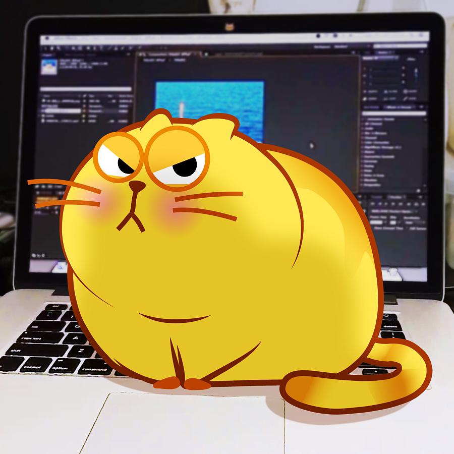 原创开心猫动画~|表情表情|动漫|李纬一-偶遇设信网络包图微常见图片
