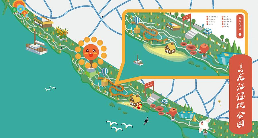 q版地图效果图