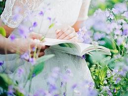 紫色的花/人像写真