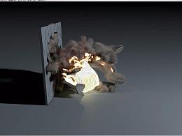 C4D教程——流体烟火特效(一)