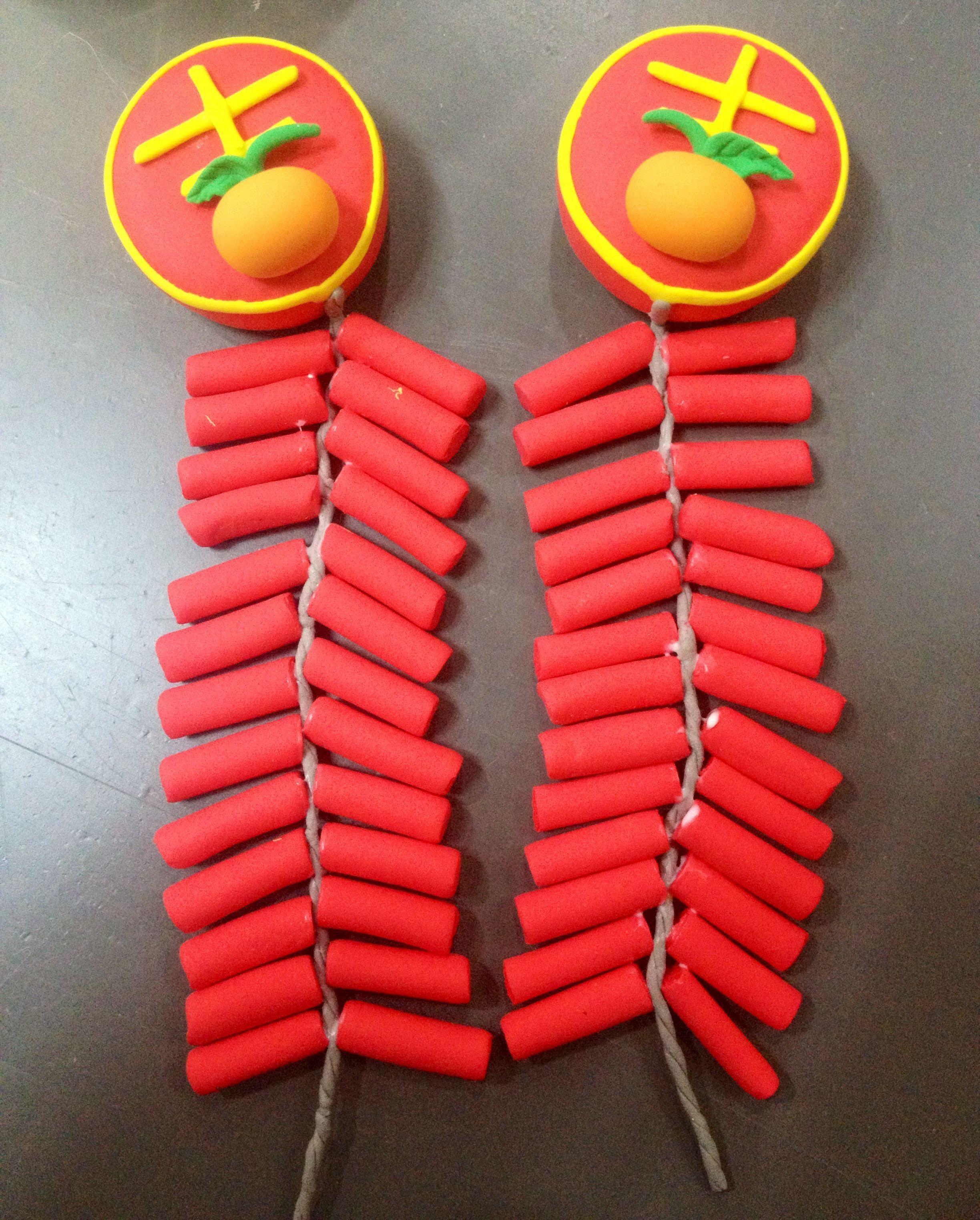 粘土制作新年装饰|手工艺|手办/原型|ella kong