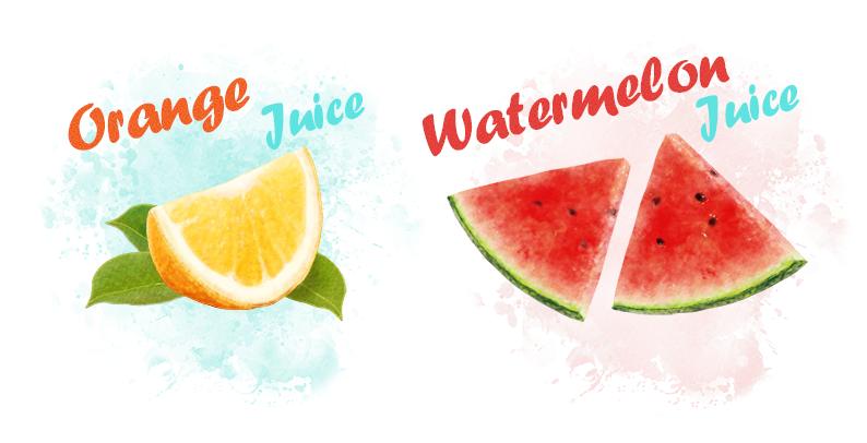 果汁包装图案手绘设计