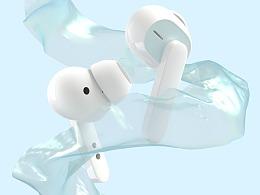 真无线主动降噪蓝牙耳机 建模视频渲染