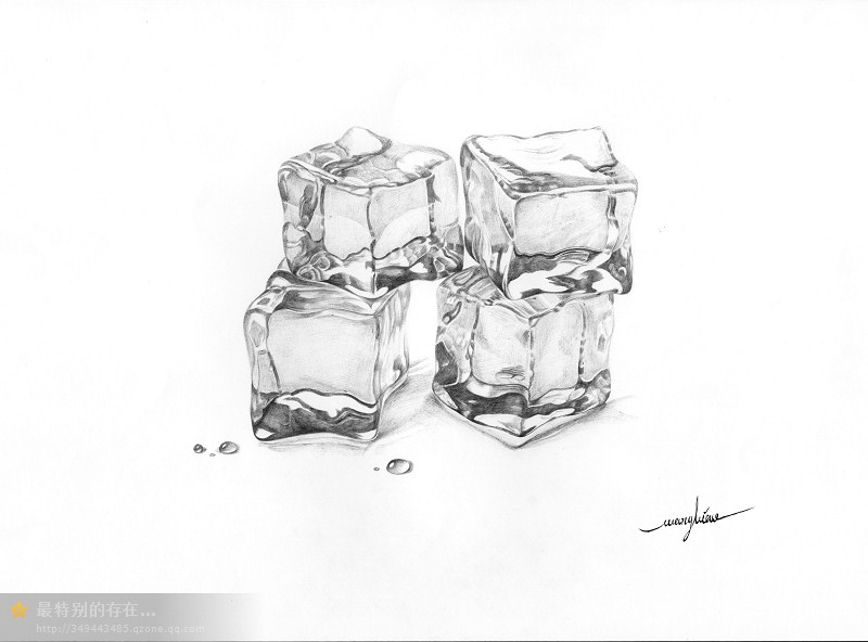 圆珠笔《冰块》