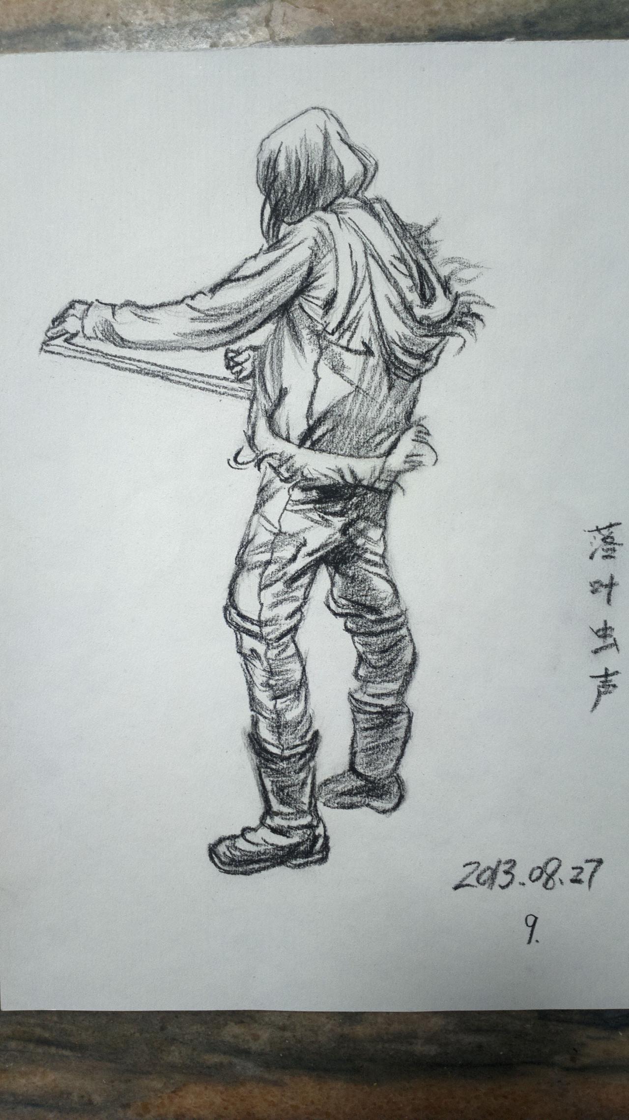 手绘作品|纯艺术|其他艺创|落叶虫声 - 原创作品