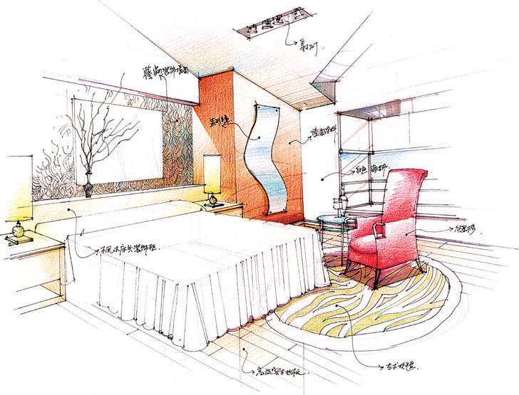 我的室内手绘效果图|室内设计|空间/建筑|steve