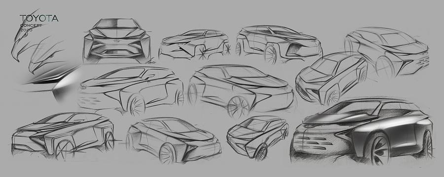 toyota concept|交通工具|工业/产品|红枫0115