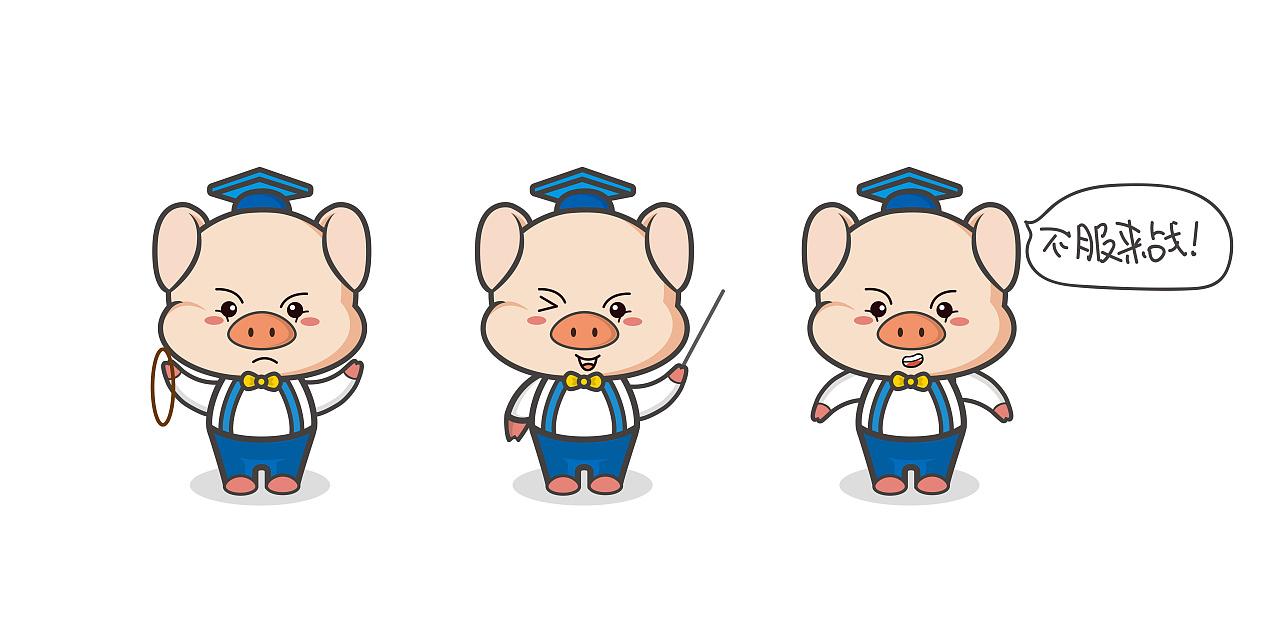 猪博通卡通形象 logo图片