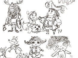 儿童插画练习100个
