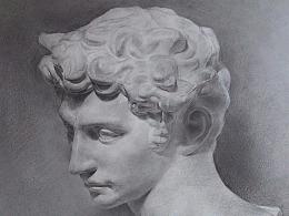 石膏像素描《小卫》