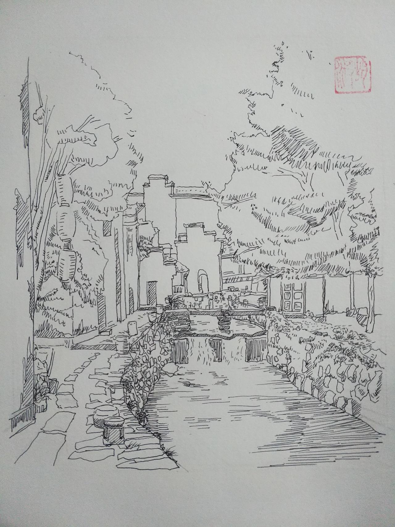 简笔画 手绘 素描 线稿 1280_1707 竖版 竖屏