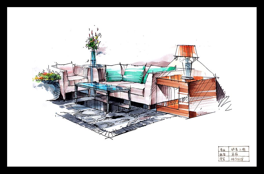 手绘建筑|空间|建筑设计|昂然m - 原创作品 - 站酷