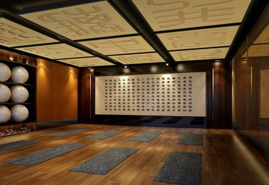 瑜伽馆设计效果图-方案所设计品名 室内平面设计作瑜伽图片