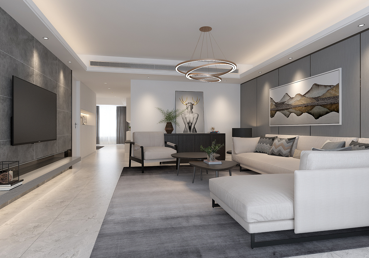 现代高级灰 / 住宅空间设计|空间|室内设计|六品空间