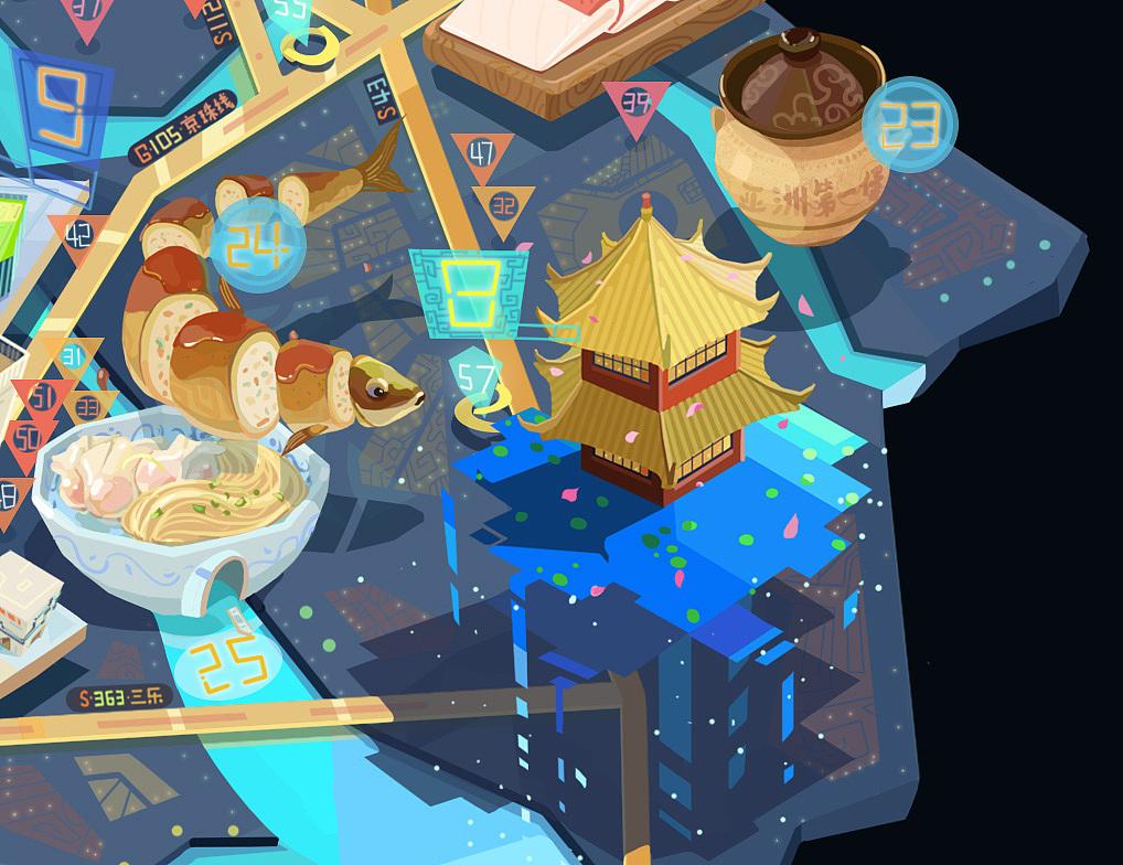 广州大学城卫星城旅游美食地图(顺德北滘,乐从,陈村)