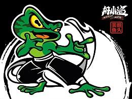 美蛙鱼头logo