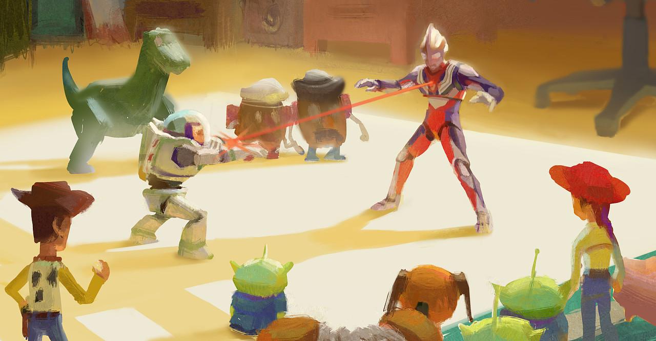 玩具总动员遇上超人迪加