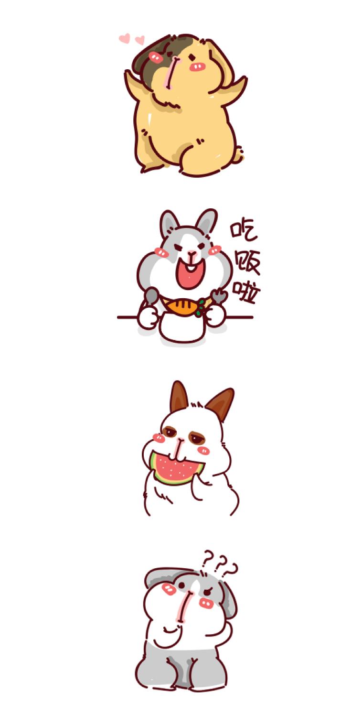 微信动漫|兔兔动物园|表情图片|网络|ZZZoe微信添加gif表情表情过大怎么办图片
