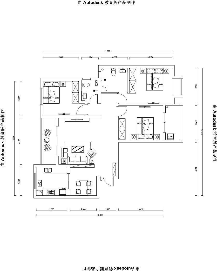 永威案例城130平三室两厅新中式装修翡翠|室内绘制向斜成山背斜成谷图片