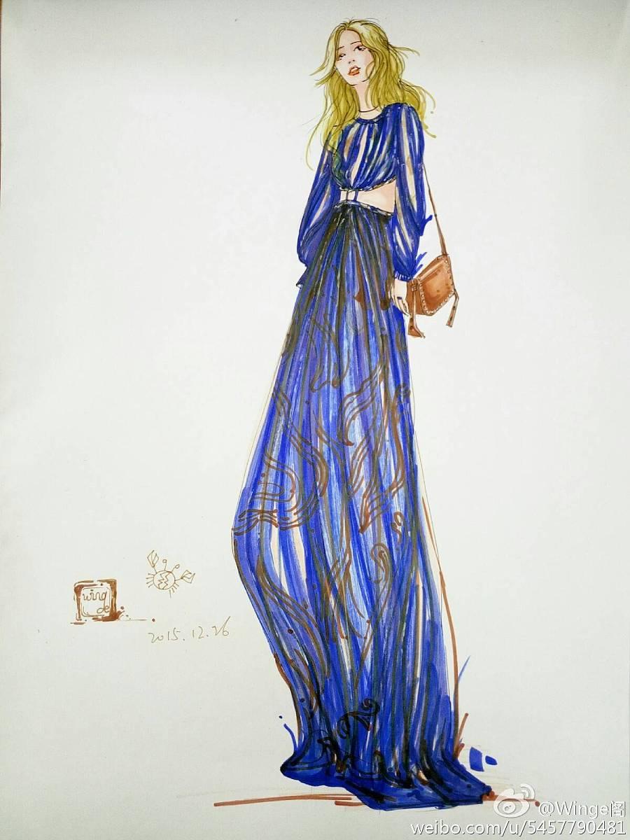 手绘服装效果图|其他服装|服装