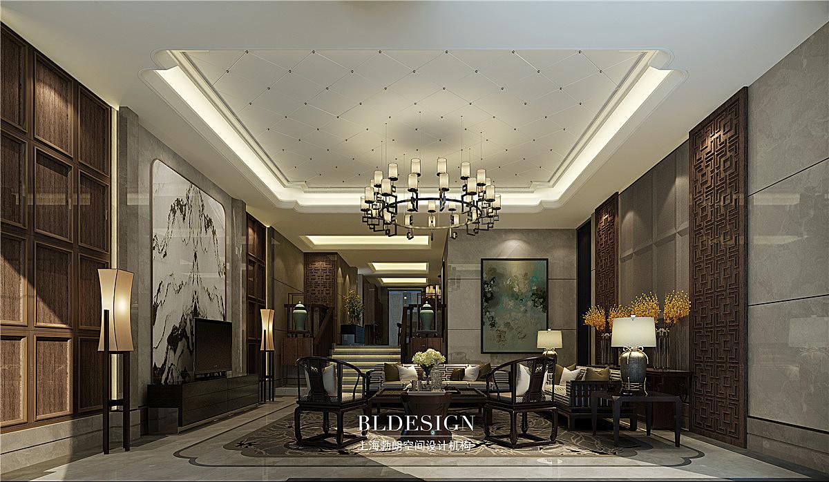 郑州别墅设计公司作品——府西雅苑·新中式别墅设计案例图片