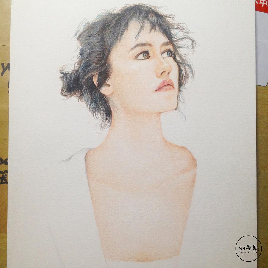 原创作品:写实彩铅手绘