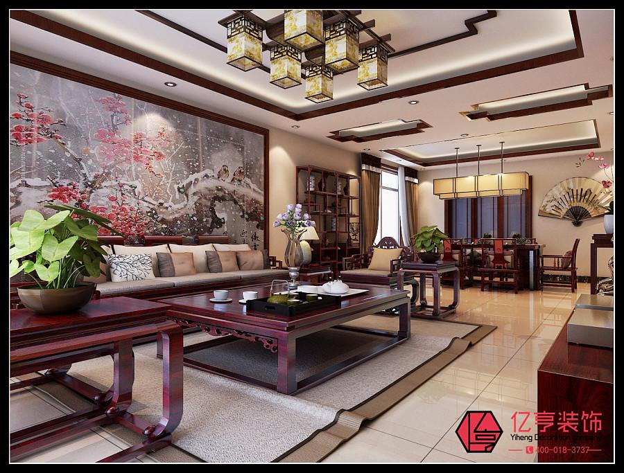 说明】天山新材料170平米中式公爵风格案例赏室内设计效果装饰ppt图片
