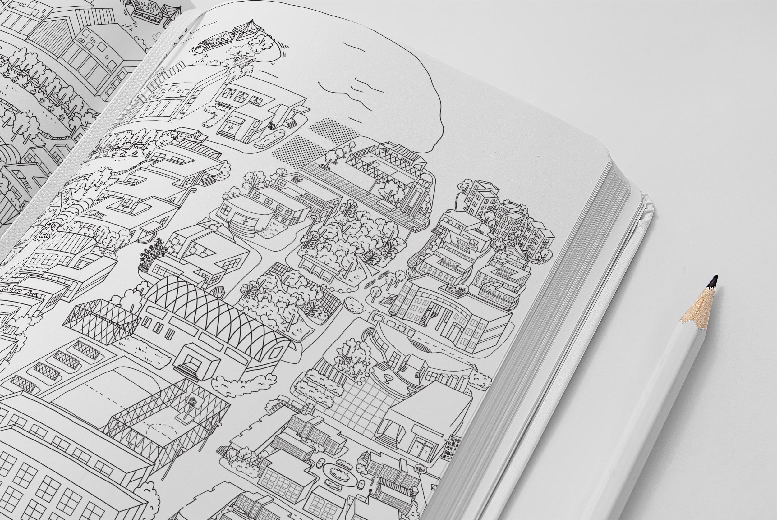 创意手绘地图
