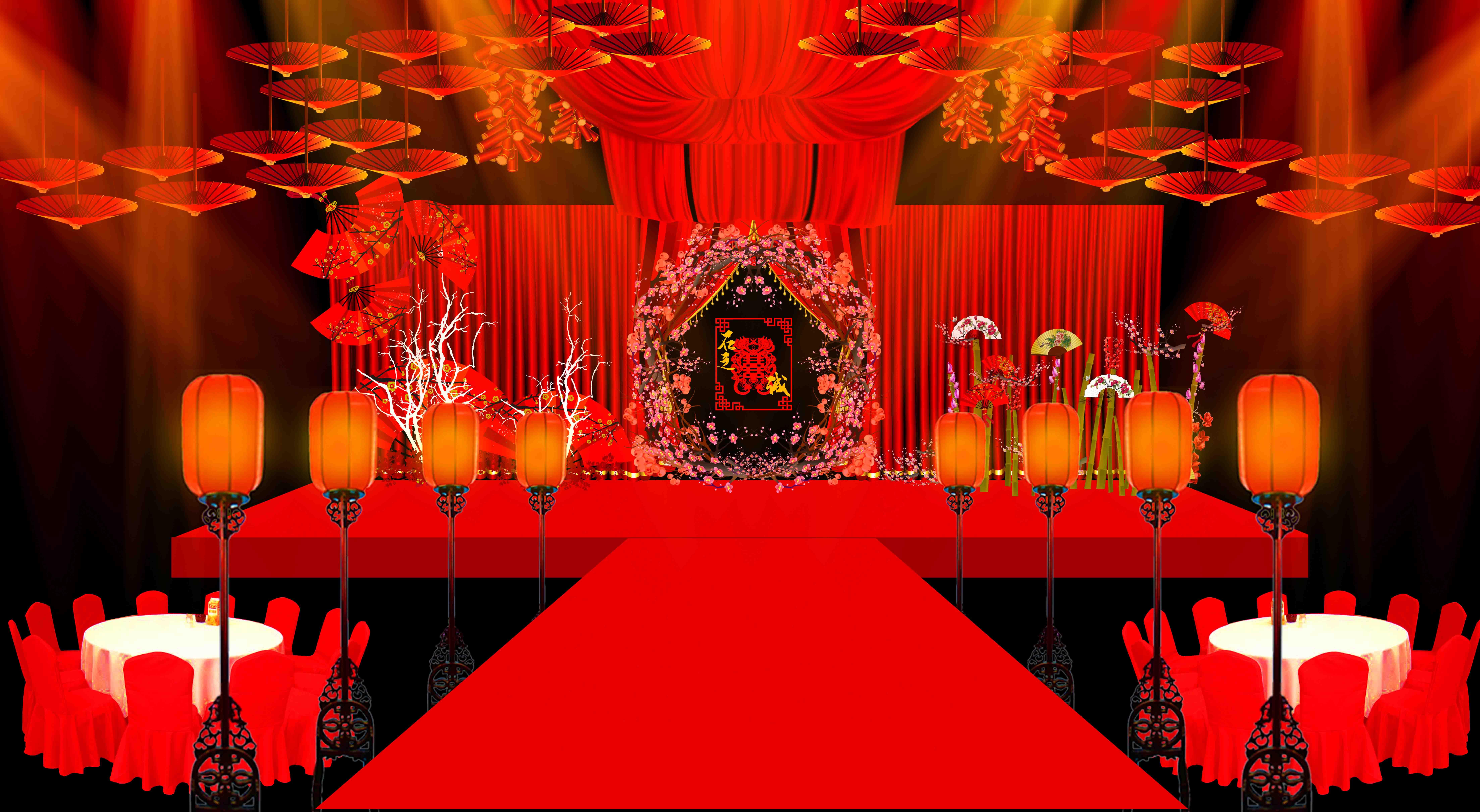 中式婚礼设计图片