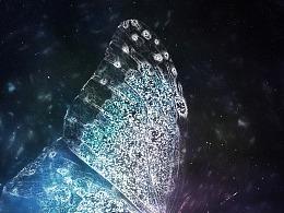 梦幻星空蝴蝶翅膀