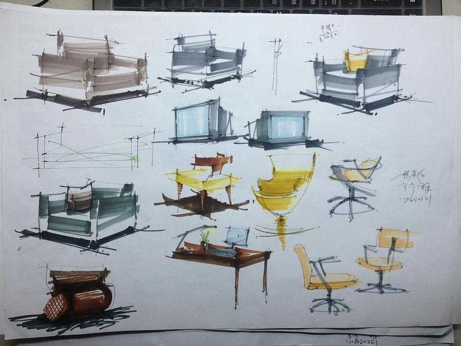 室内手绘作业 室内设计 空间 创艺者21 - 原创设计