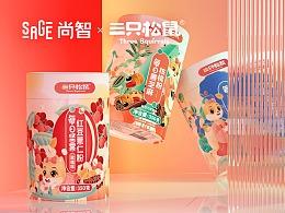 尚智×三只松鼠 | 藕粉饮品系列包装