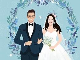 婚礼卡写实又小清新肖像