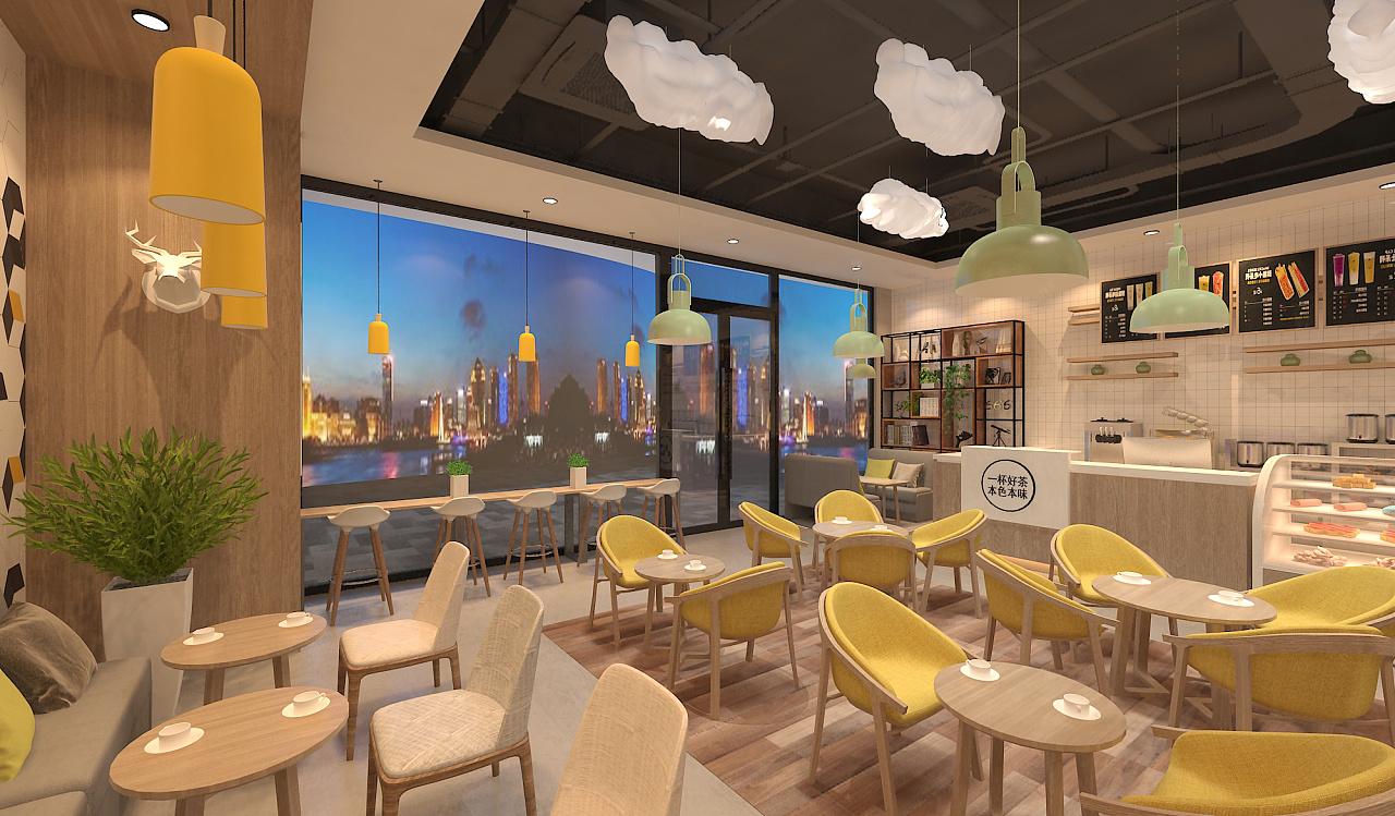 直线空间-脆茶|餐饮|室内设计|粮叁茶饮策划-原怎样输入绘制品牌图片