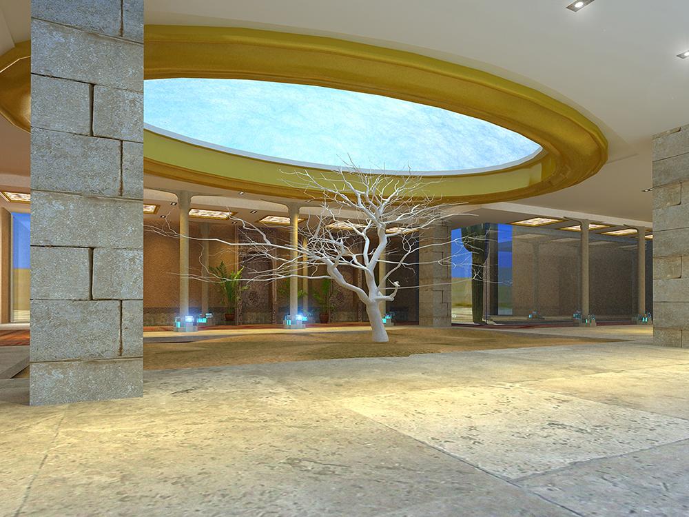楼兰风情设计-《德阳宜宾西域风景酒店主题设计》酒店图绘制ps图片