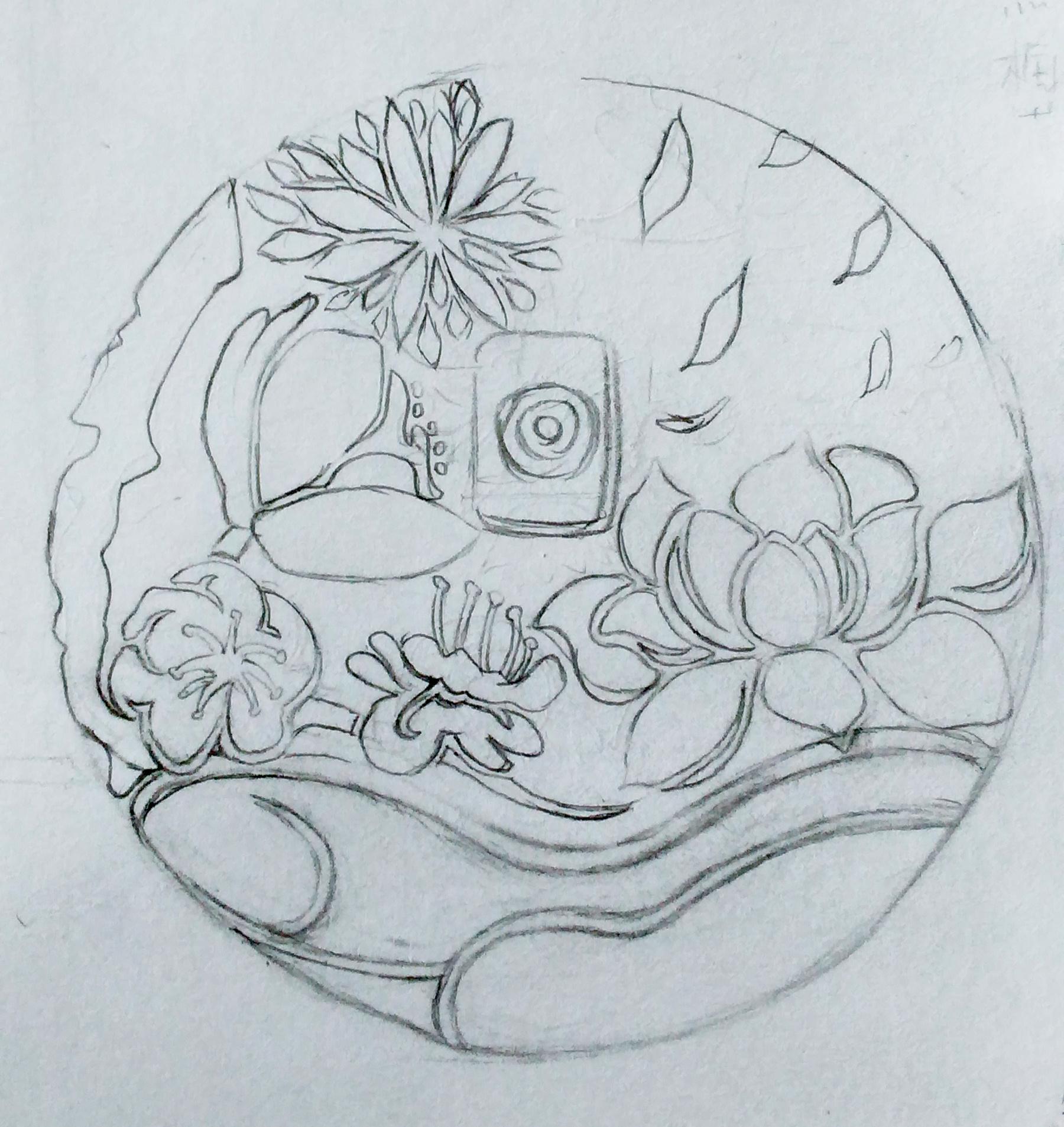 简笔画 手绘 素描 线稿 1800_1906