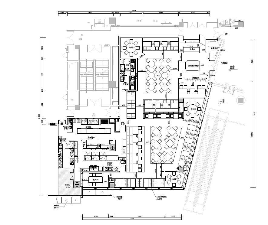 正餐店 · 餐饮空间设计_唐潮码头平面图