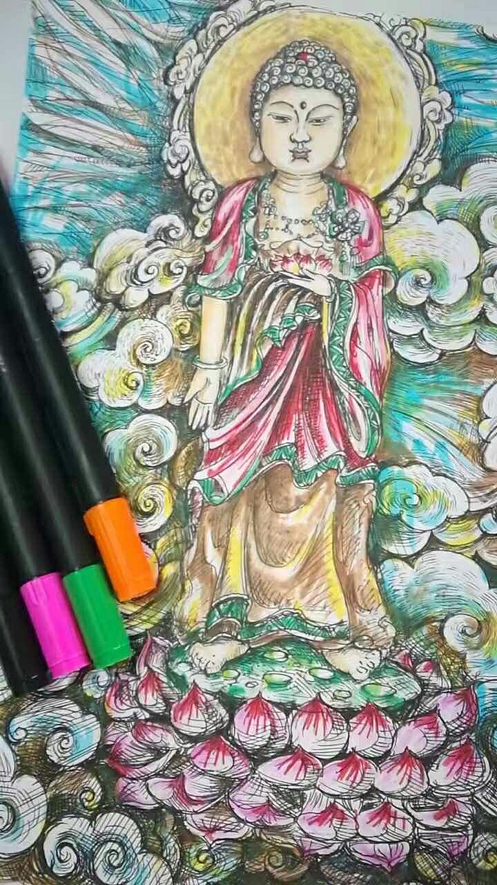 水彩笔涂鸦 插画 涂鸦/潮流 简单手绘 - 原创作品