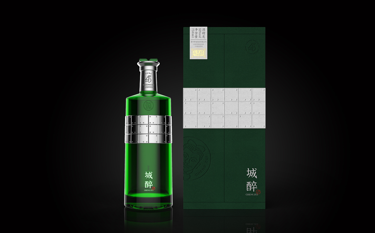 西安白酒_城醉-西安 白酒包装设计 工业/产品 礼品/纪念品 Yoannn - 原创作品 ...