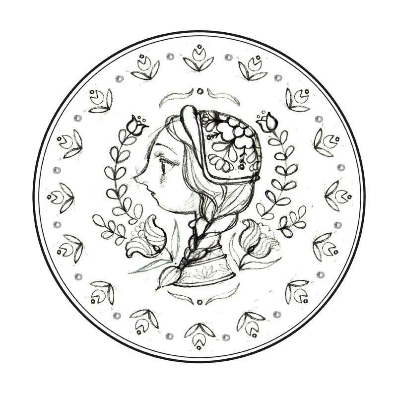《姑娘》--手绘盘子|其他手工|手工艺|单丹丹shan